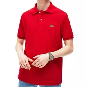 Lacoste red 2 button polo